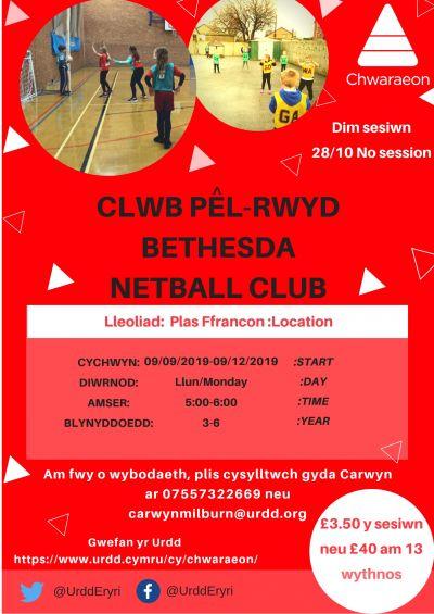 Bethesda Netball Club YR 3-6