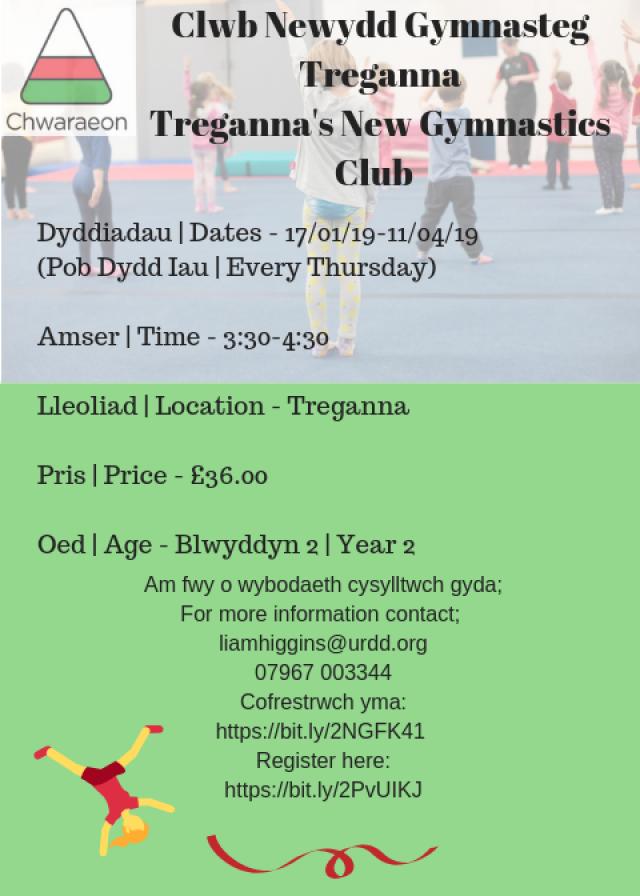 Clwb Gymnasteg Ysgol Treganna (Bl 2)