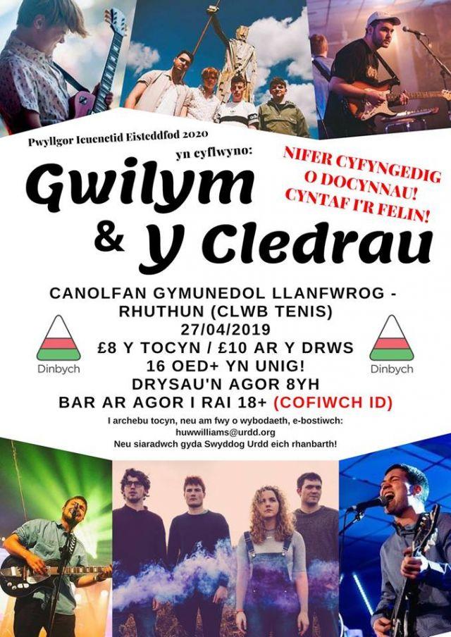Gig Gwilym + Y Cledrau