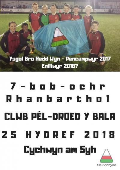 Peldroed 7-bob-ochr Ysgolion Cynradd