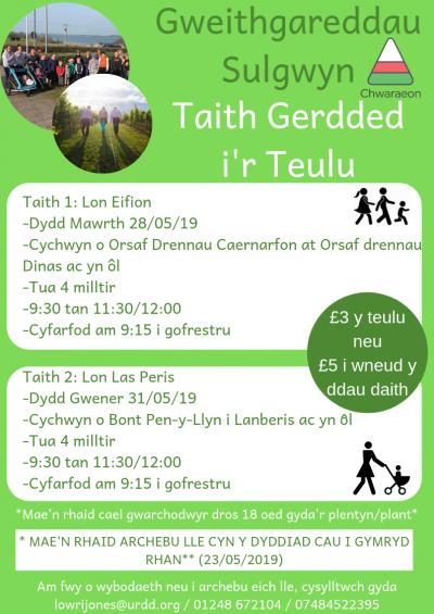 Taith Gerdded Teulu Sulgwyn 1