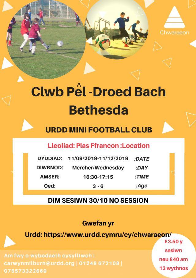 Clwb Pel-Droed Bach Bethesda 3i6 Oed