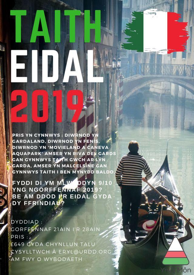 Taith Eidal 2019