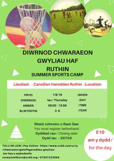 Diwrnod Chwaraeon Haf Ruthin