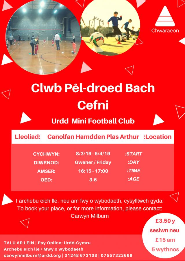 Clwb Pel-droed bach Llangefni Oed 3 - 6