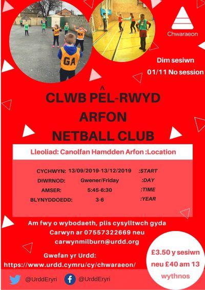 Arfon Netball Club YR 3-6
