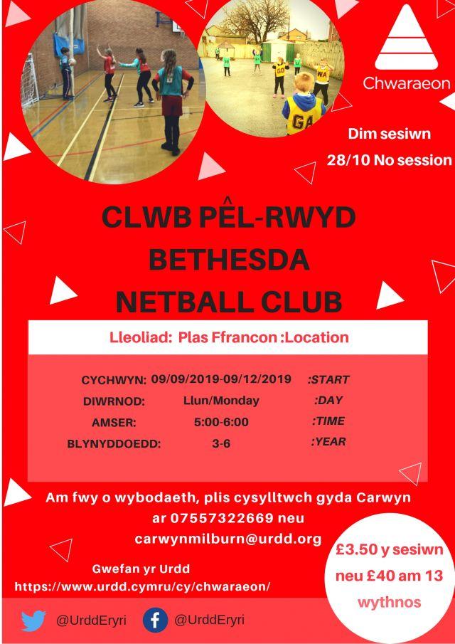 Clwb Pel-Rwyd Bethesda BL 3-6
