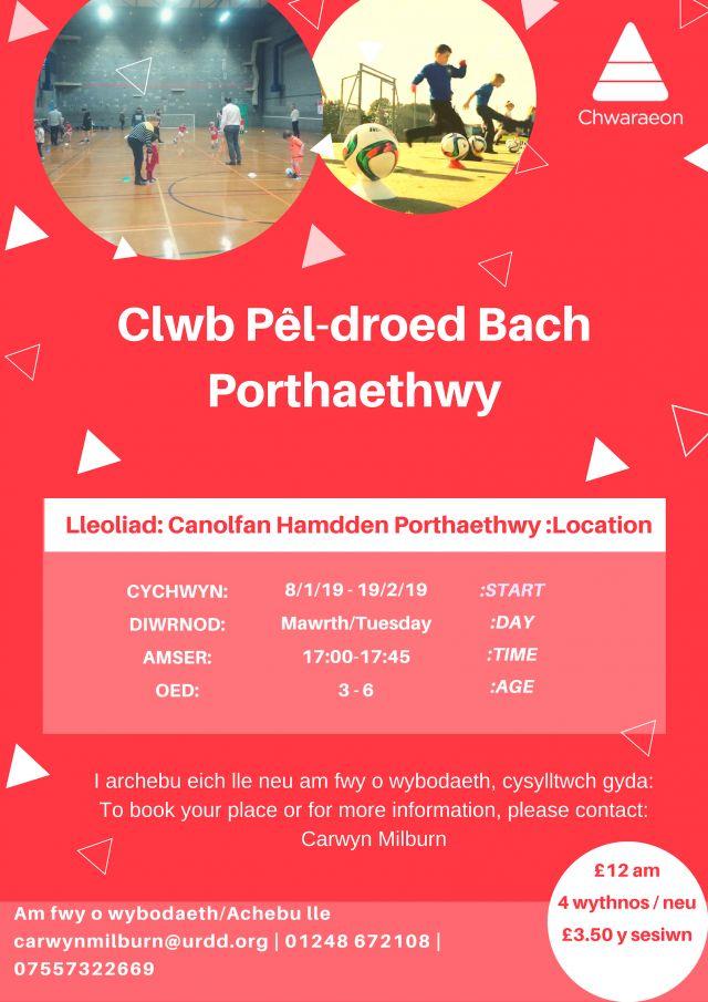 Clwb Pel-droed bach Borth Oed 3 i 6
