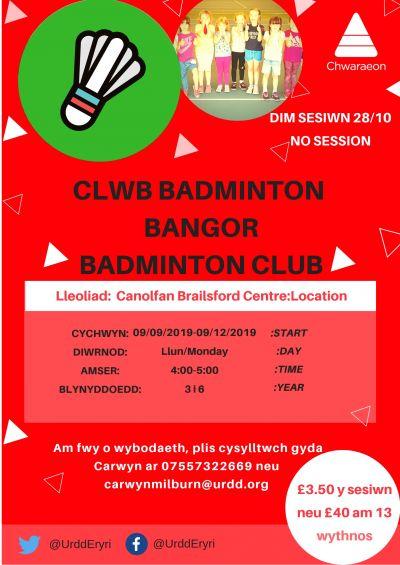 Bangor Badminton Club YR 3-6
