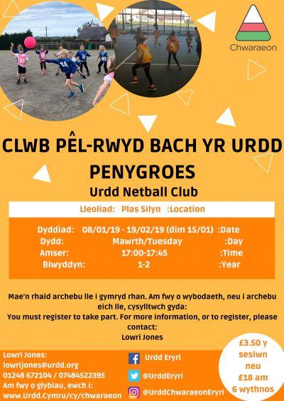 Penygroes Netball Club YR 1-2