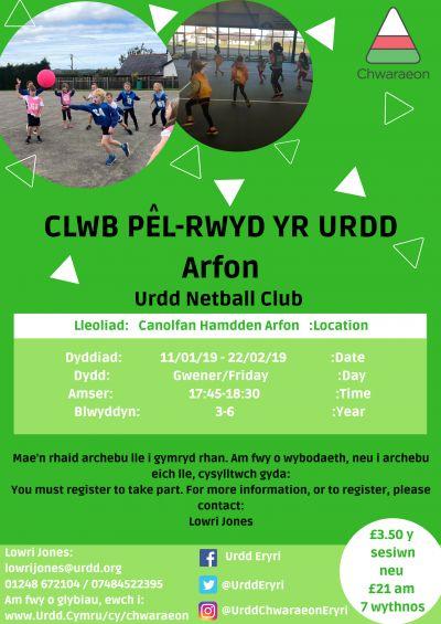 Clwb Pel-Rwyd Arfon BL 3-6