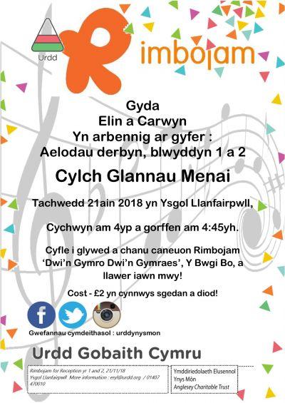 Rimbojam- Cylch Glannau Menai