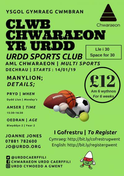 Multi Sports Cwmbran School Year 2